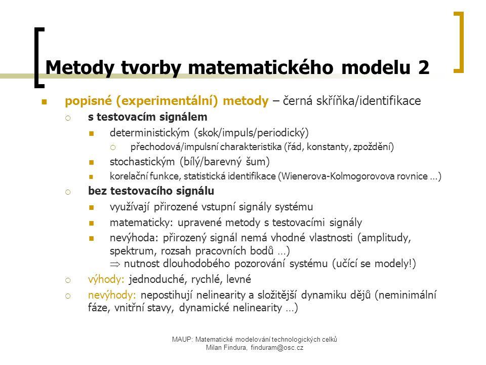 Metody tvorby matematického modelu 2