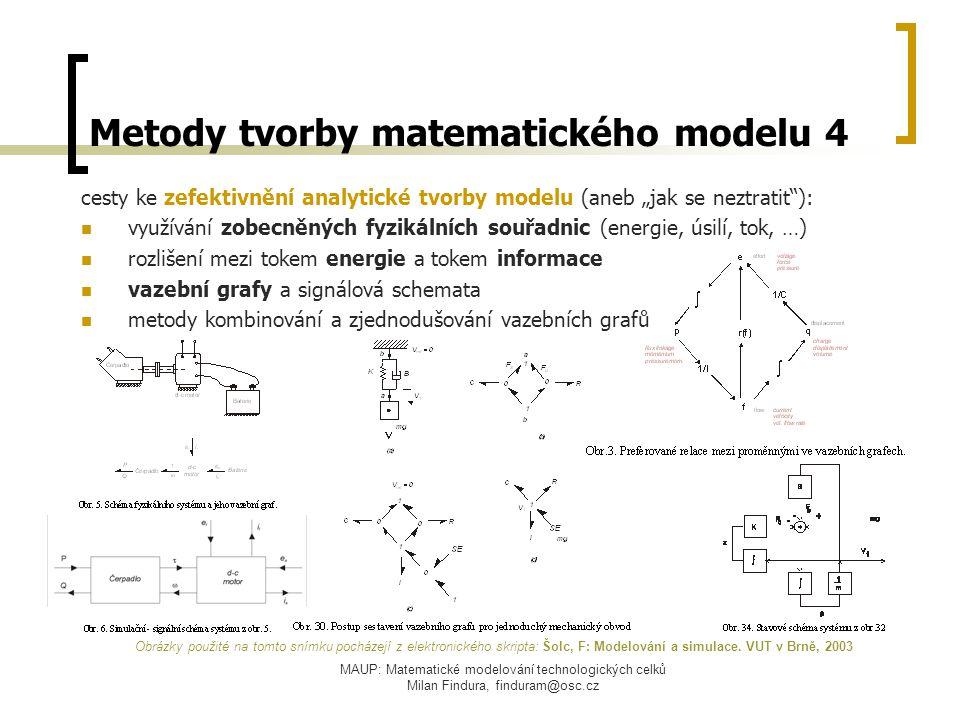Metody tvorby matematického modelu 4