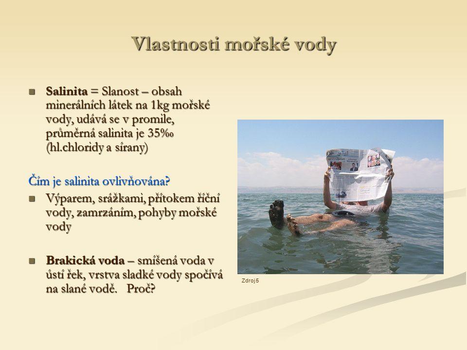 Vlastnosti mořské vody