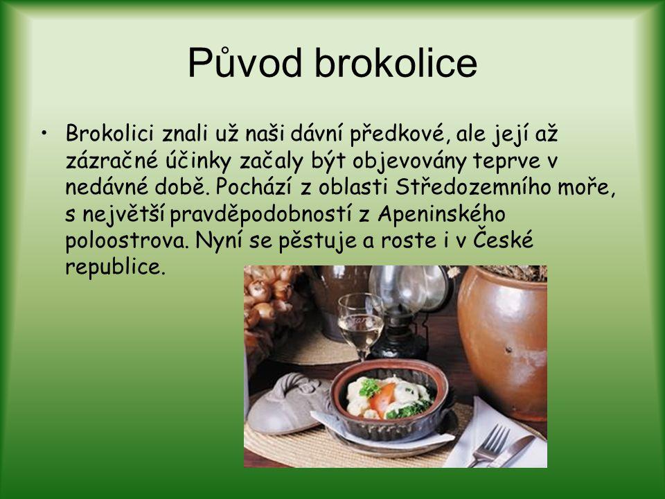 Původ brokolice