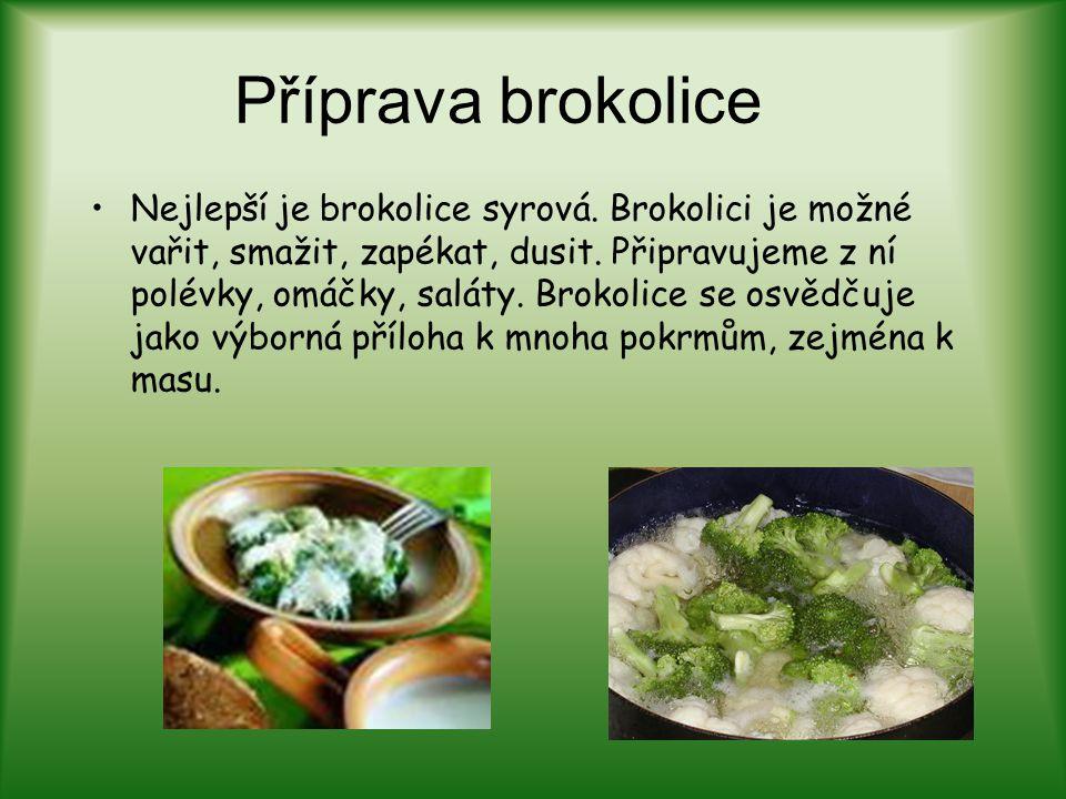 Příprava brokolice
