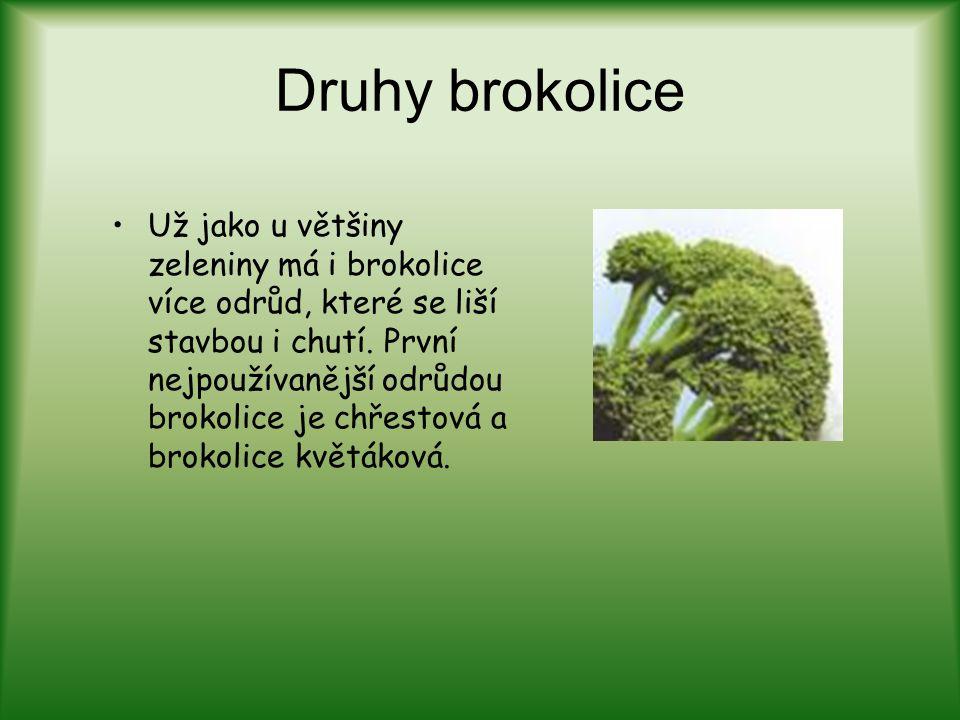 Druhy brokolice
