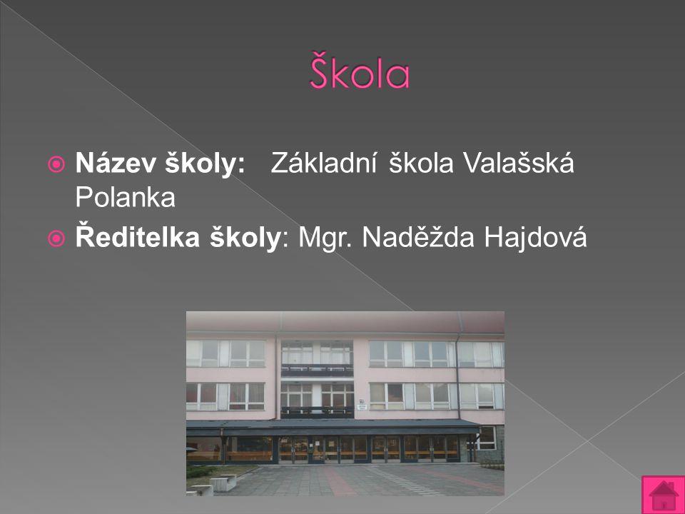 Škola Název školy: Základní škola Valašská Polanka