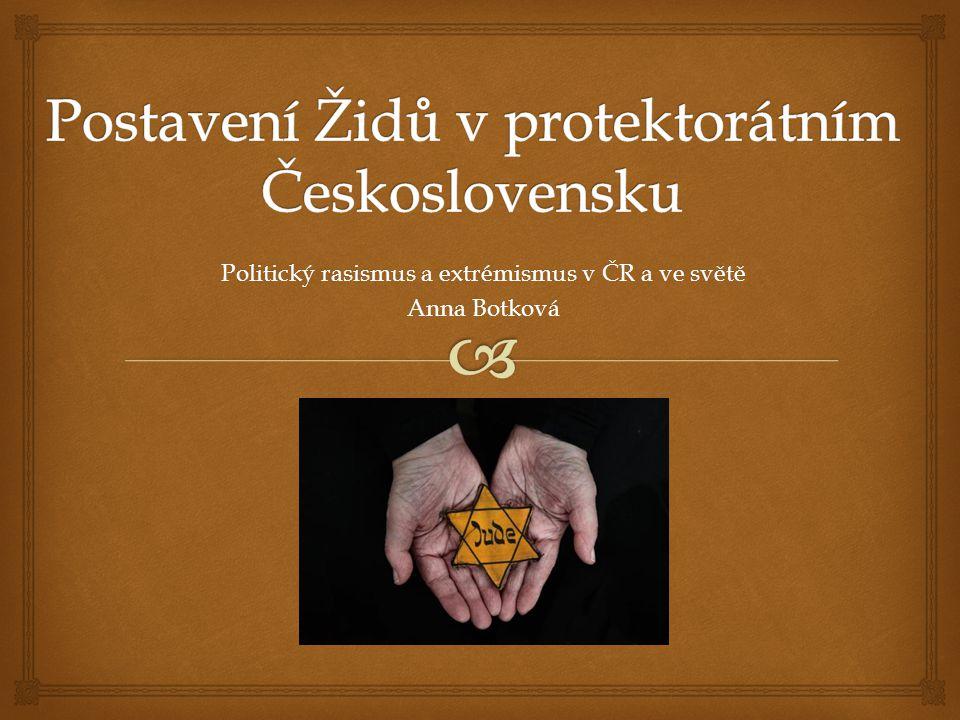 Postavení Židů v protektorátním Československu