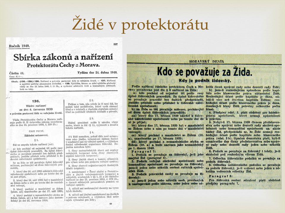 Židé v protektorátu