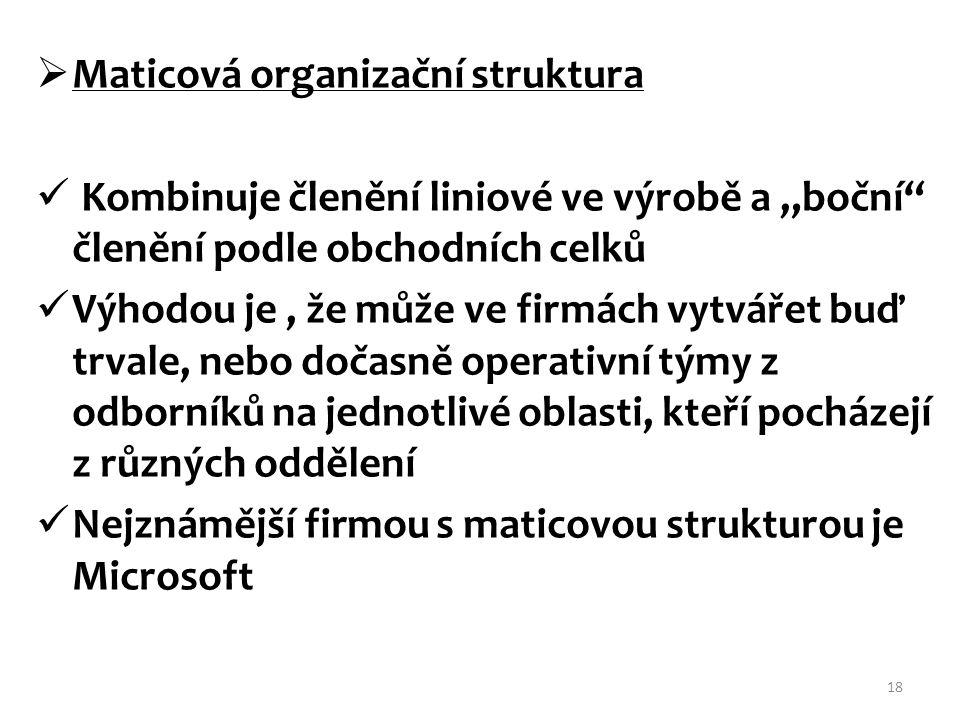 Maticová organizační struktura