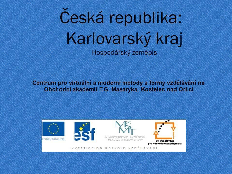 Česká republika: Karlovarský kraj Hospodářský zeměpis