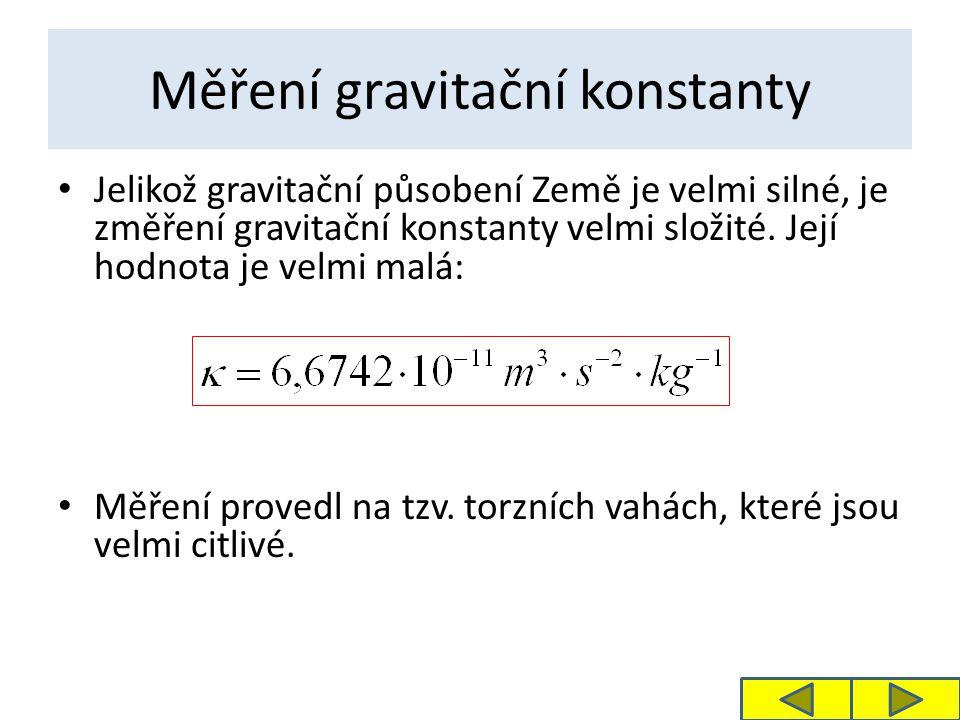 Měření gravitační konstanty