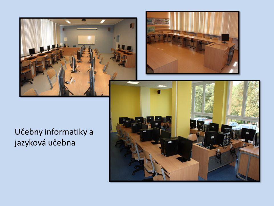 Učebny informatiky a jazyková učebna