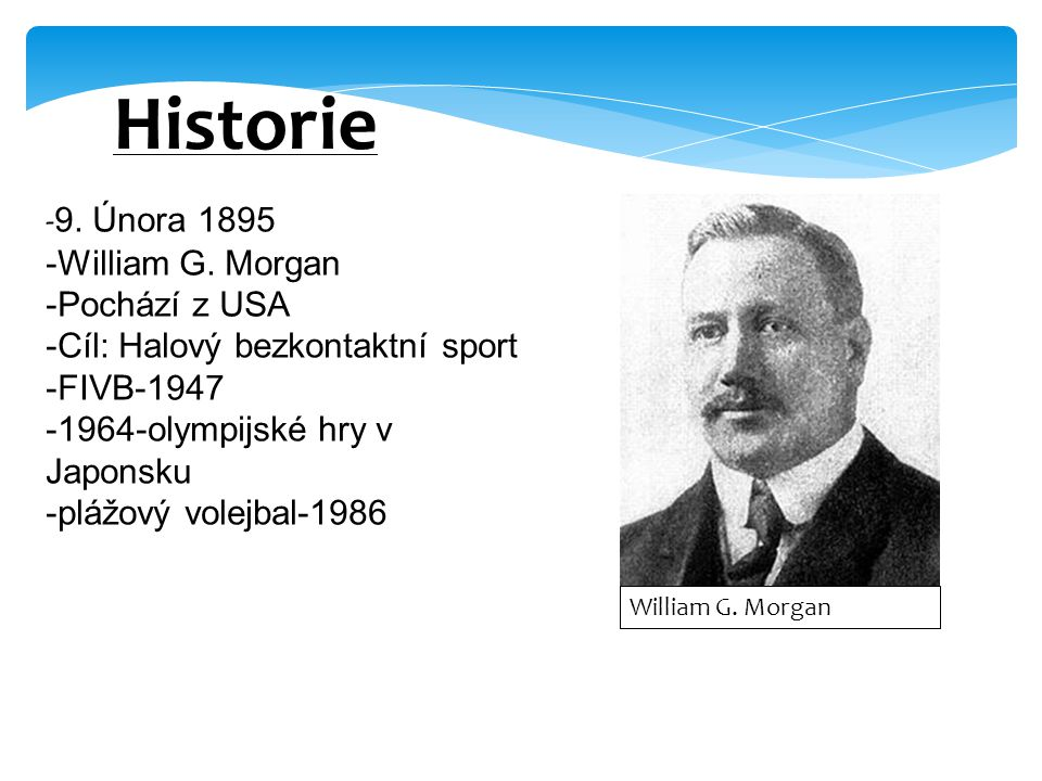 Historie -9. Února 1895 -William G. Morgan -Pochází z USA