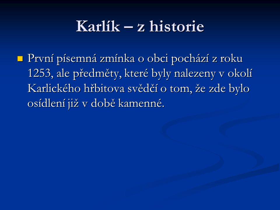 Karlík – z historie