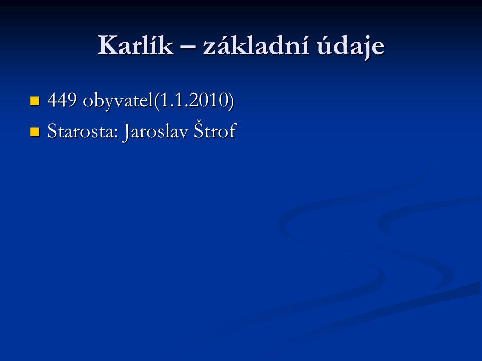 Karlík – základní údaje