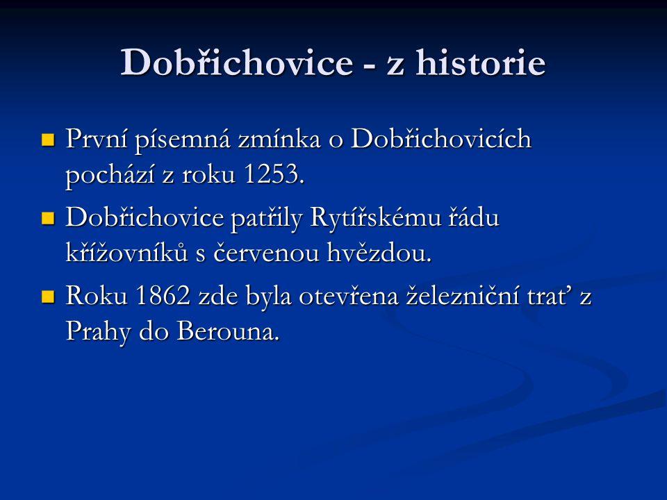 Dobřichovice - z historie