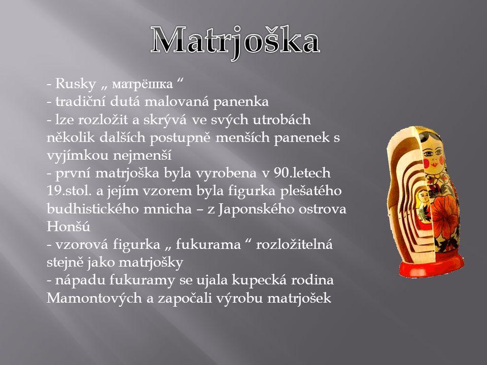 """Matrjoška Rusky """" матрёшка tradiční dutá malovaná panenka"""