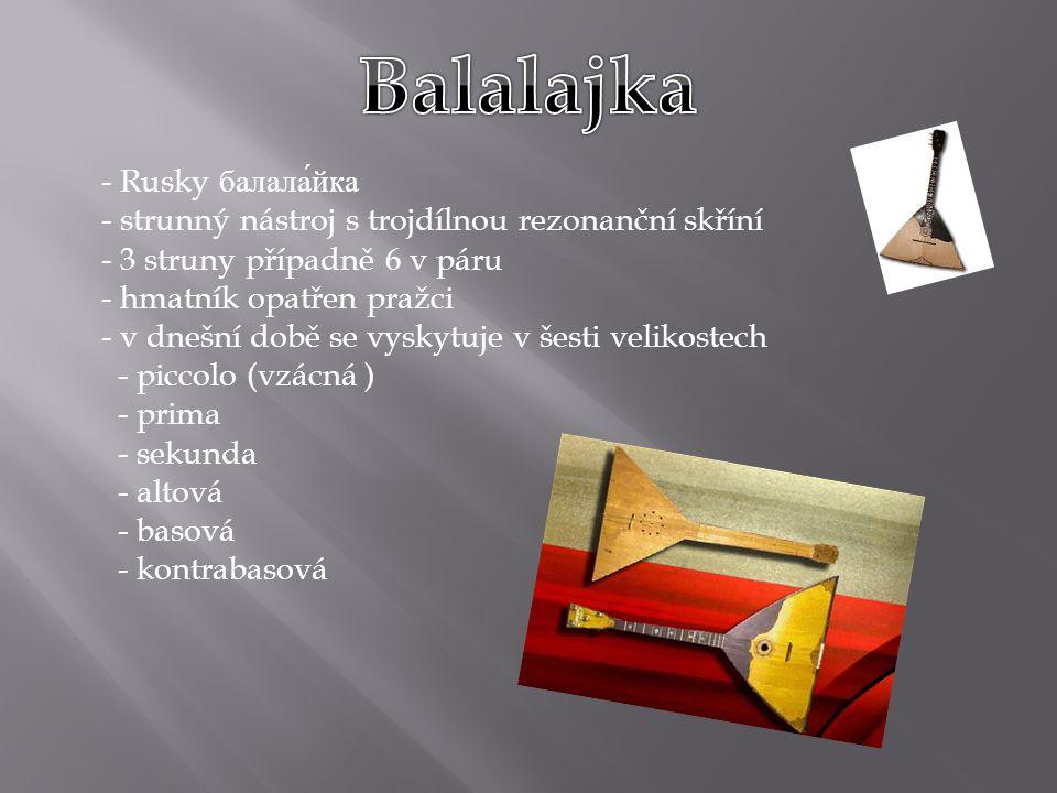 Balalajka Rusky балала́йка