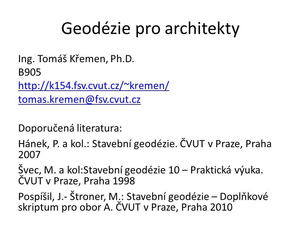 Geodézie pro architekty