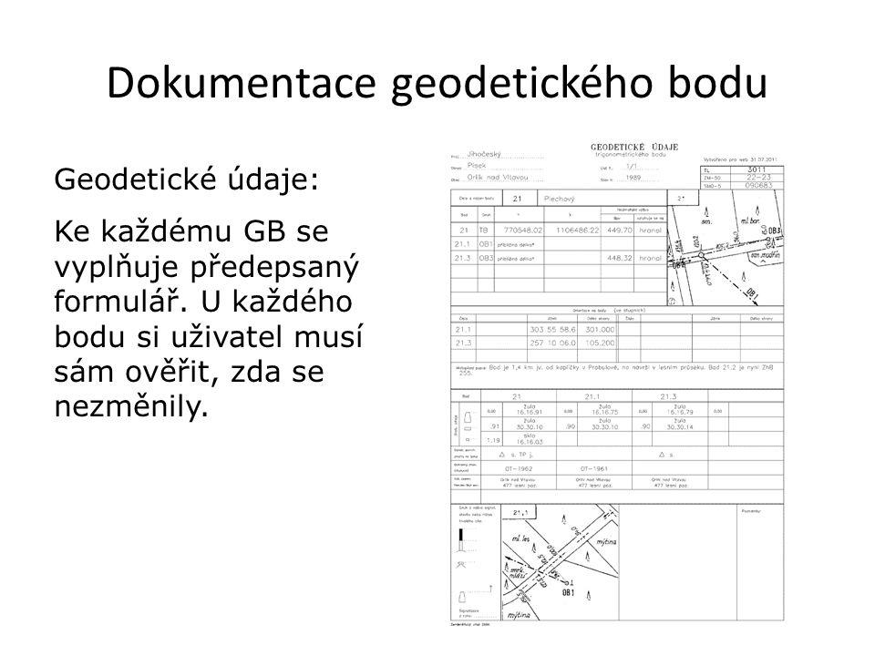 Dokumentace geodetického bodu