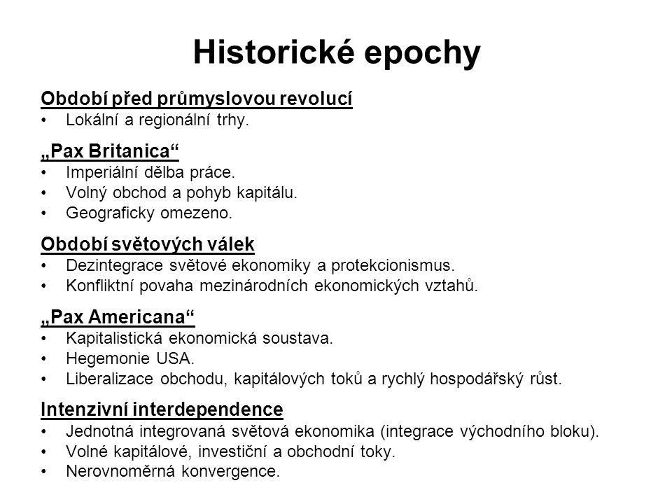"""Historické epochy Období před průmyslovou revolucí """"Pax Britanica"""