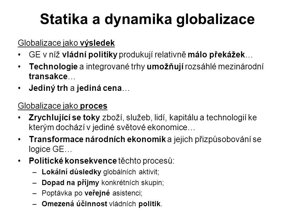 Statika a dynamika globalizace