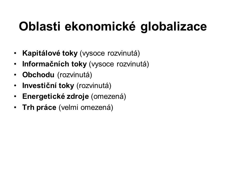 Oblasti ekonomické globalizace