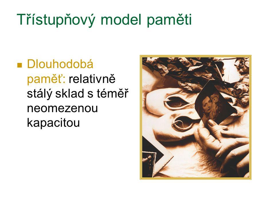 Třístupňový model paměti