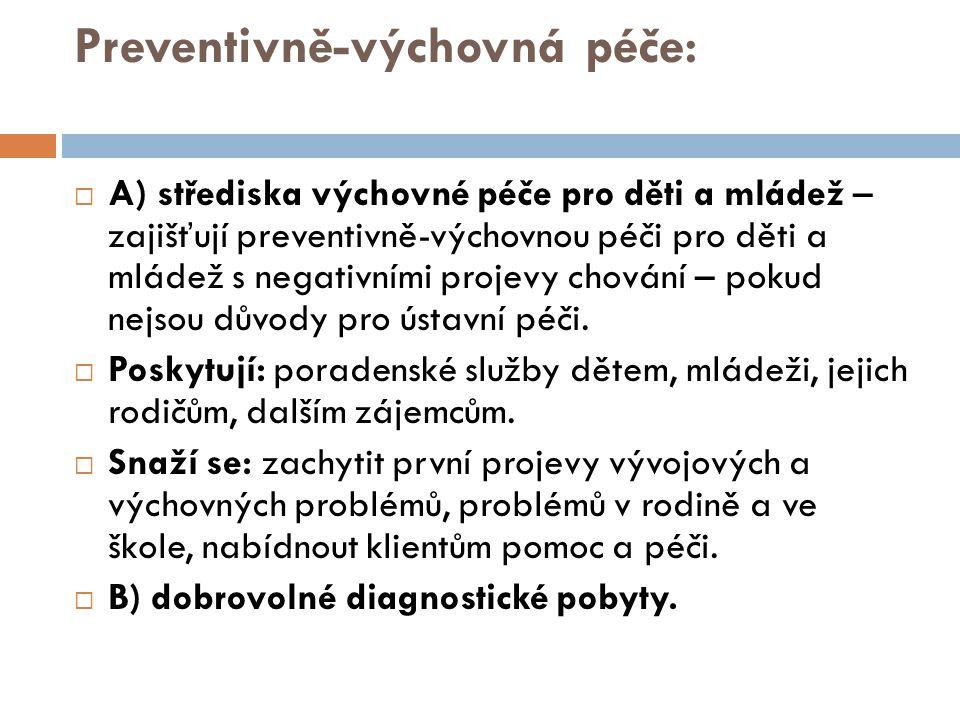 Preventivně-výchovná péče: