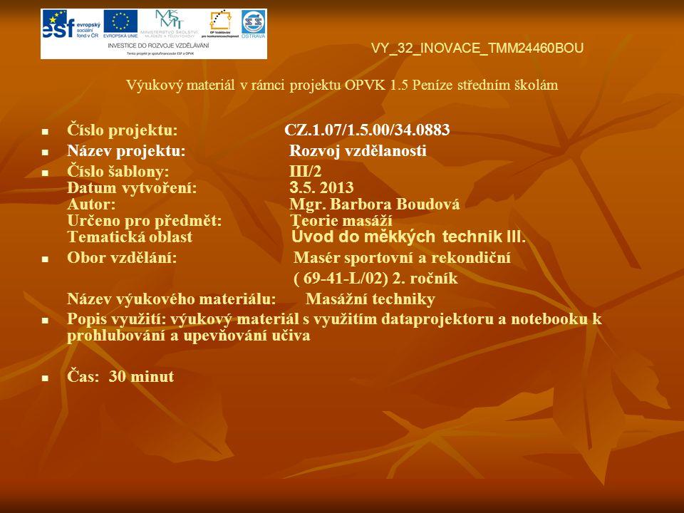 VY_32_INOVACE_TMM24460BOU Výukový materiál v rámci projektu OPVK 1