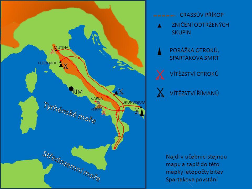 Tyrhénské moře Středozemní moře CRASSŮV PŘÍKOP