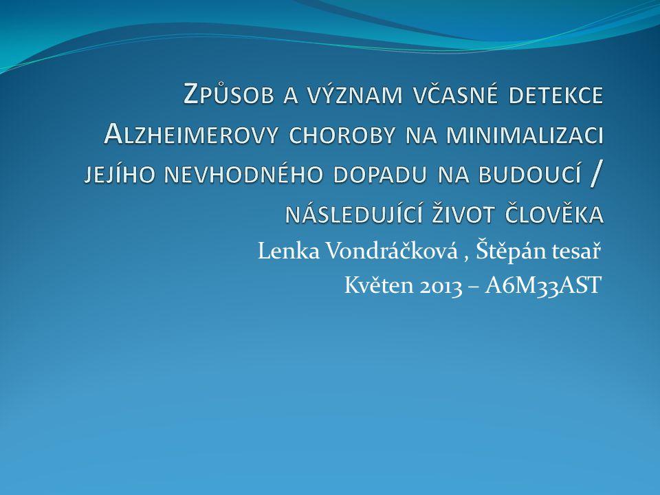 Lenka Vondráčková , Štěpán tesař Květen 2013 – A6M33AST
