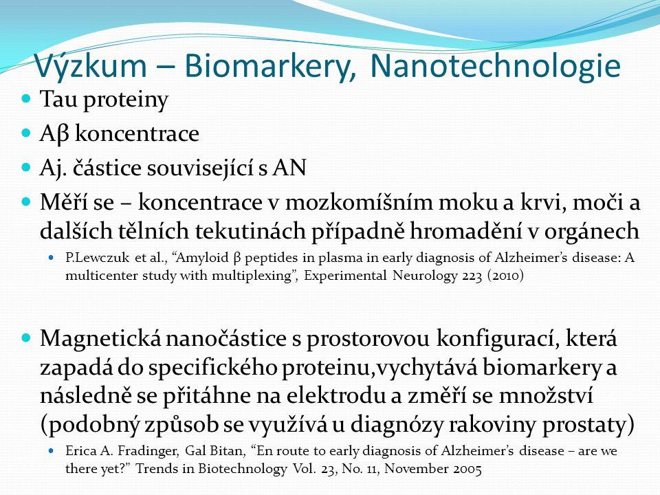 Výzkum – Biomarkery, Nanotechnologie