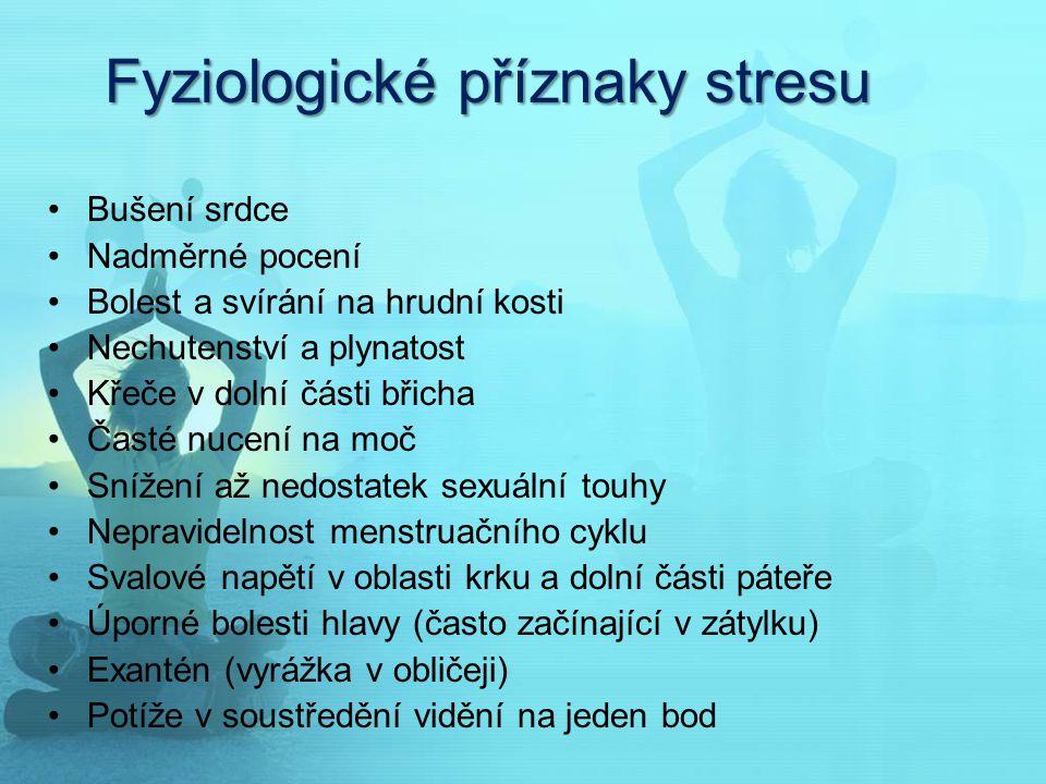 Fyziologické příznaky stresu
