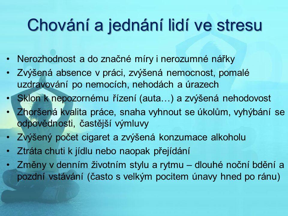 Chování a jednání lidí ve stresu