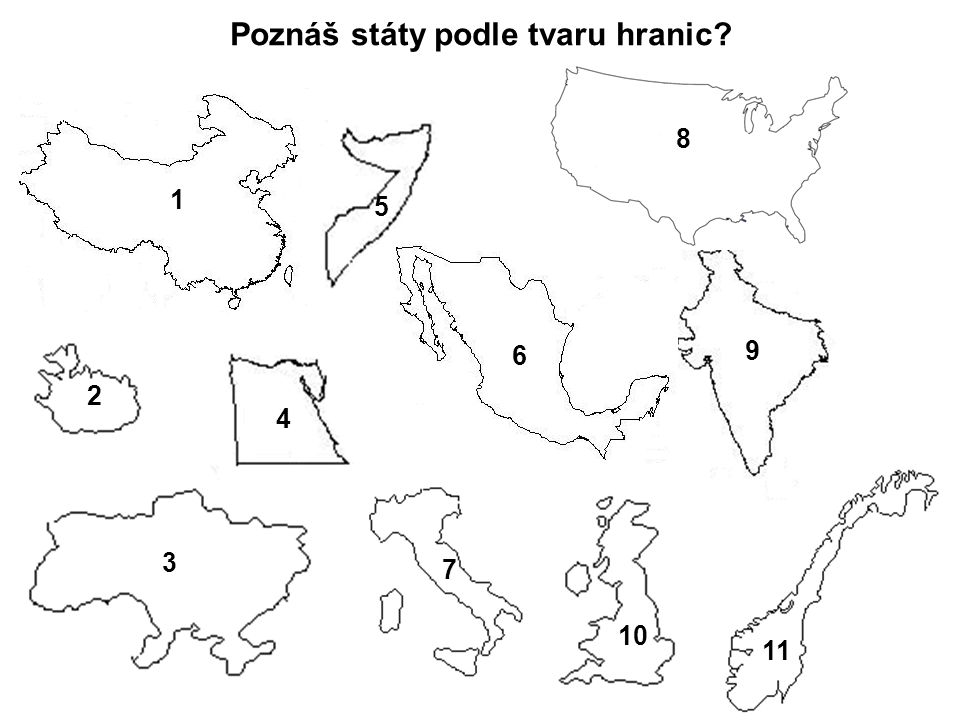 Poznáš státy podle tvaru hranic