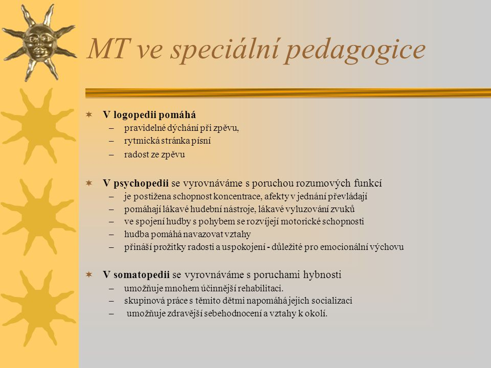 MT ve speciální pedagogice