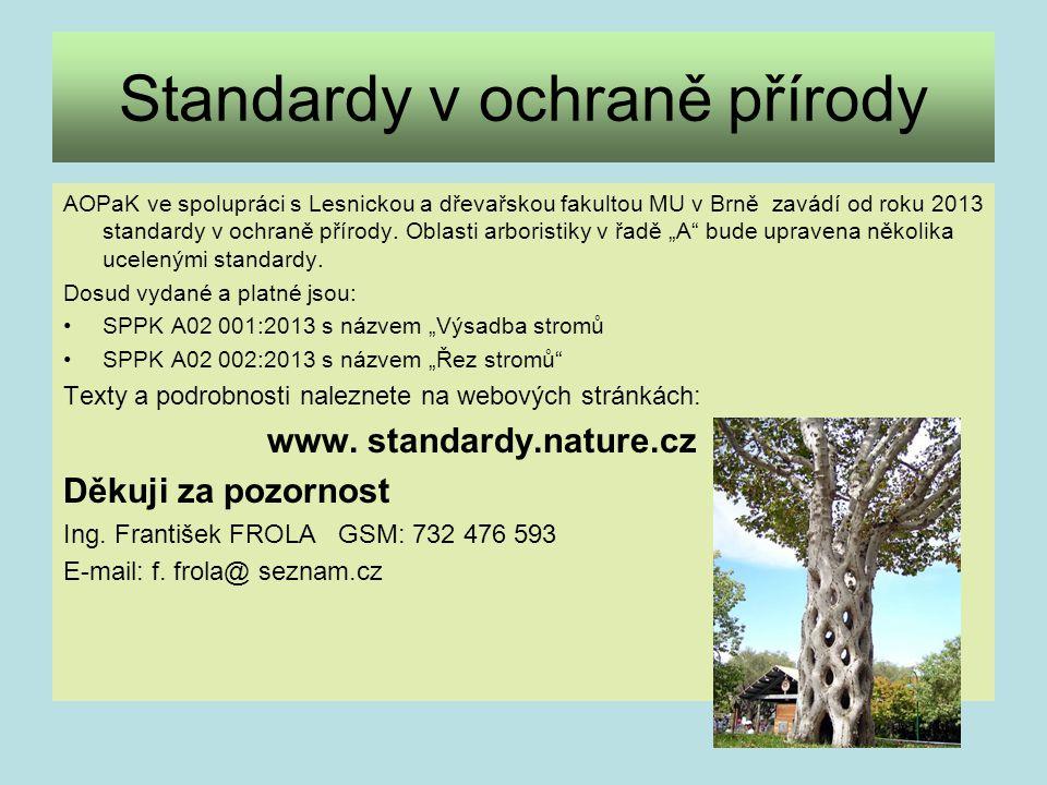 Standardy v ochraně přírody