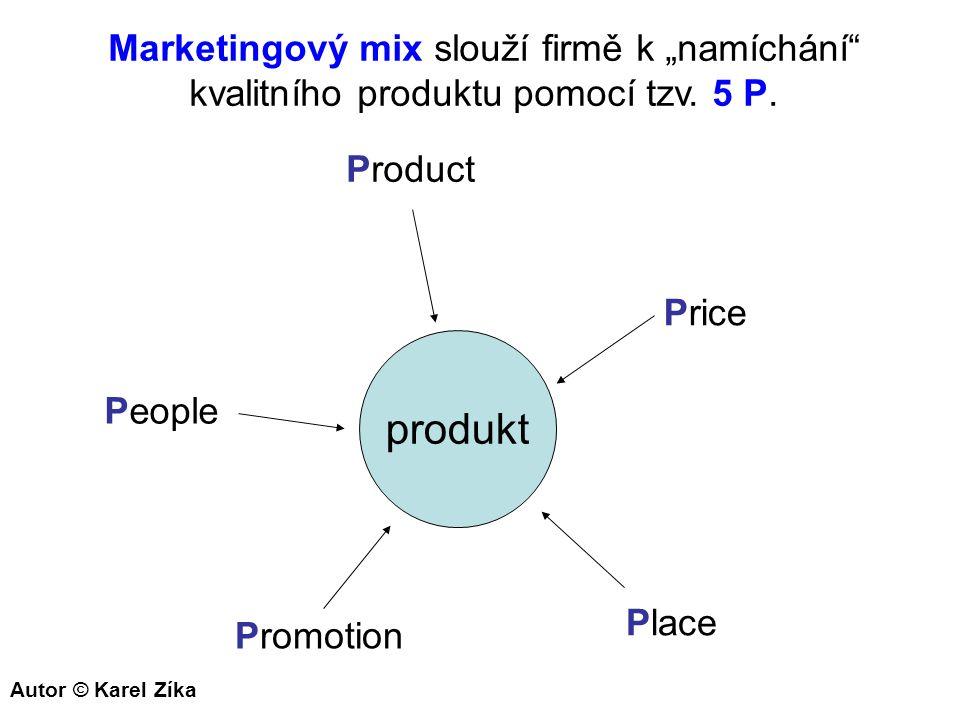 """produkt Marketingový mix slouží firmě k """"namíchání"""