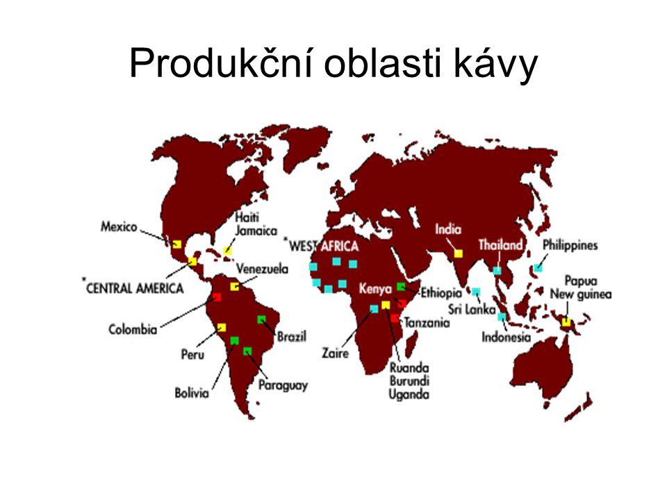 Produkční oblasti kávy