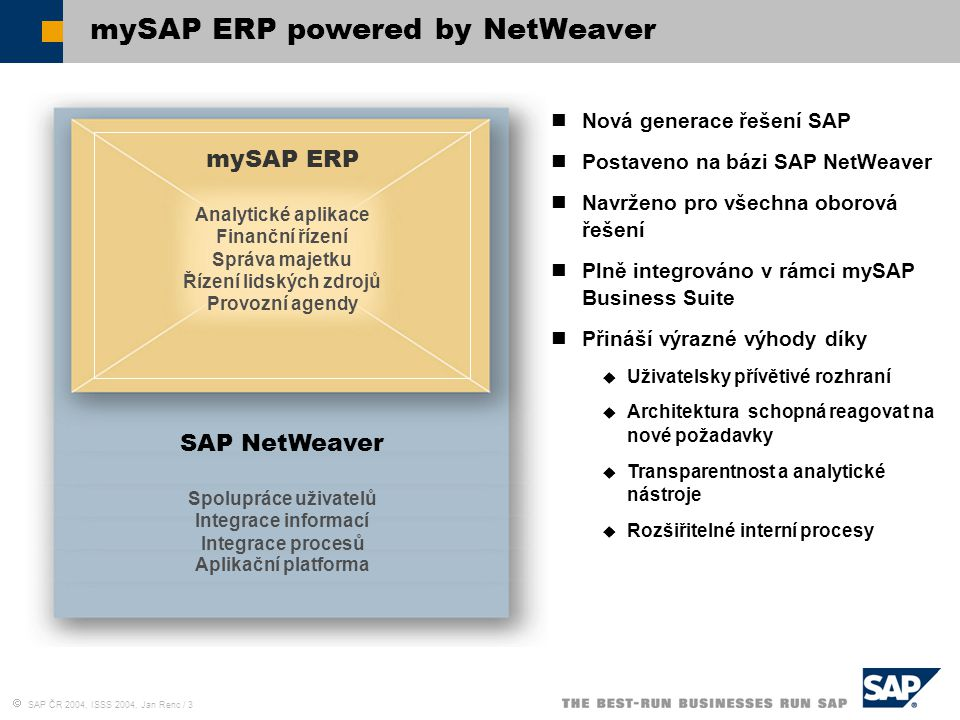 mySAP ERP powered by NetWeaver