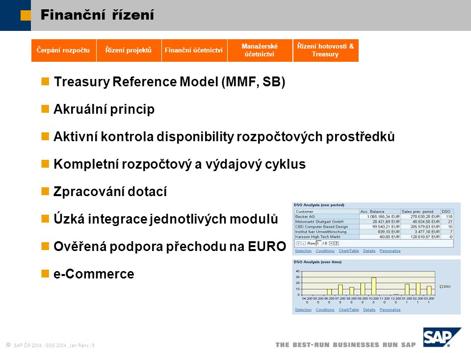 Manažerské účetnictví Řízení hotovosti & Treasury