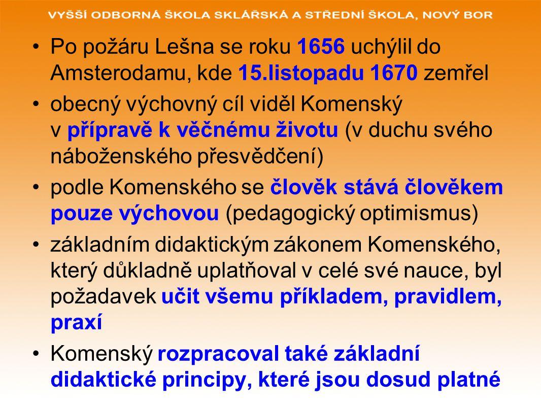 Po požáru Lešna se roku 1656 uchýlil do Amsterodamu, kde 15
