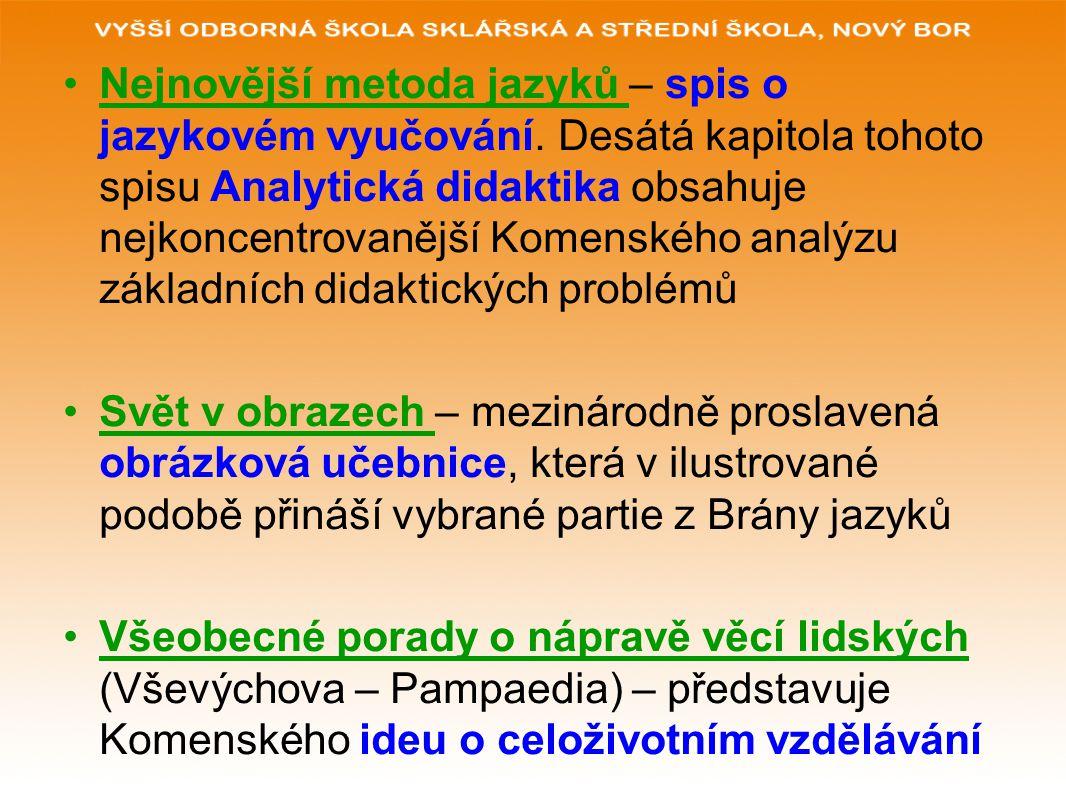 Nejnovější metoda jazyků – spis o jazykovém vyučování