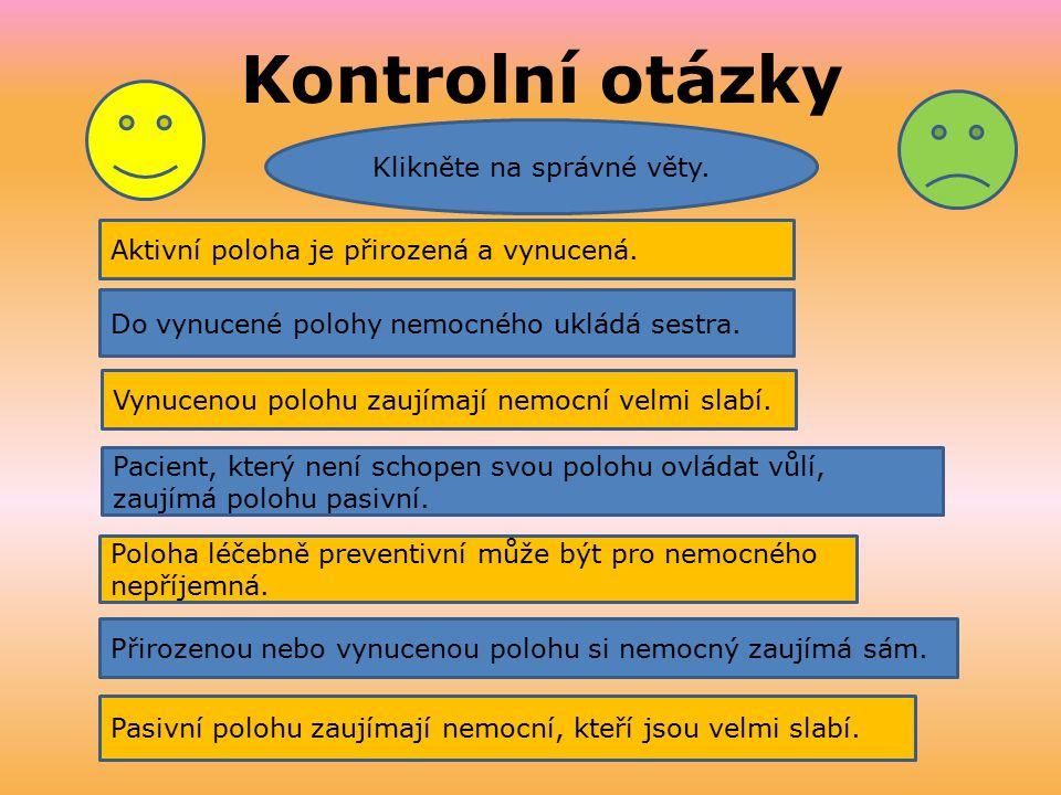 Klikněte na správné věty.