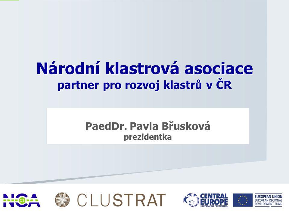 Národní klastrová asociace partner pro rozvoj klastrů v ČR