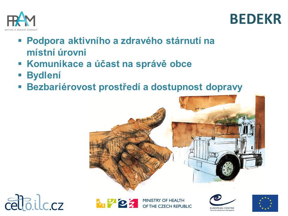 BEDEKR Podpora aktivního a zdravého stárnutí na místní úrovni