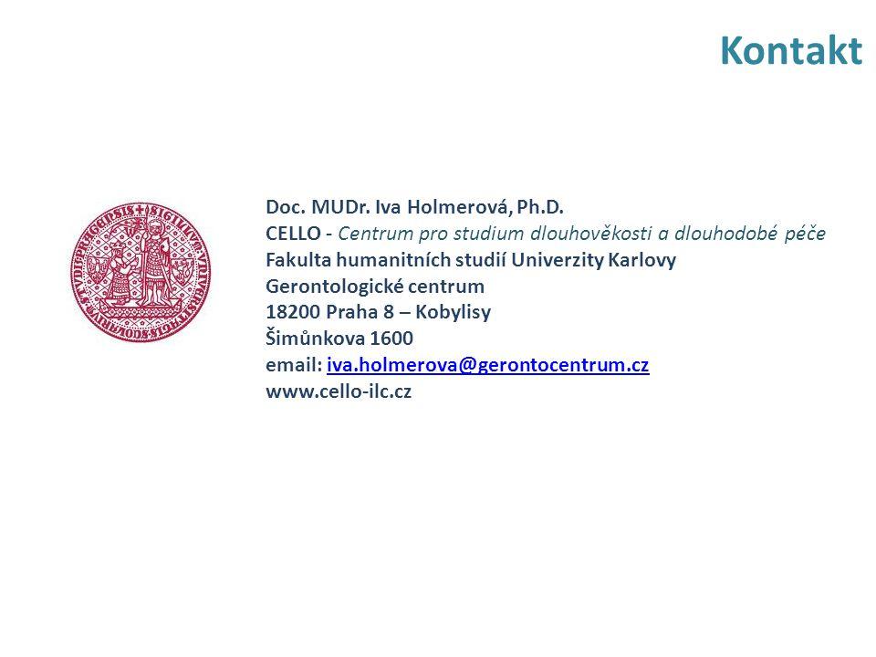 Kontakt Doc. MUDr. Iva Holmerová, Ph.D.