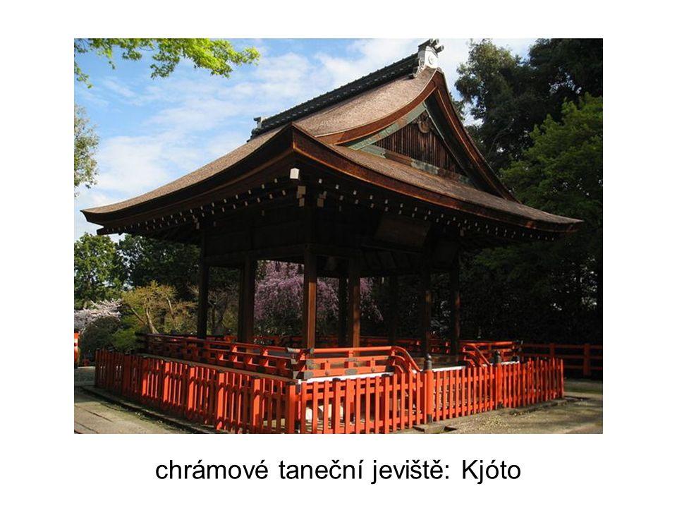 chrámové taneční jeviště: Kjóto