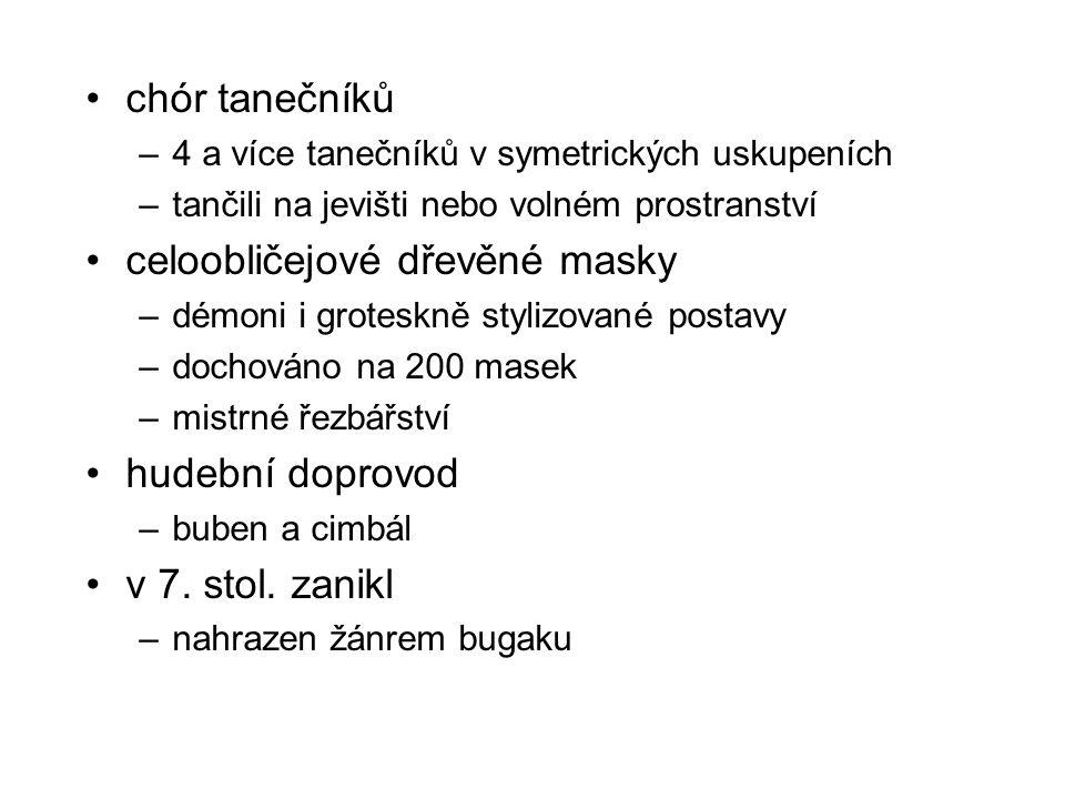 celoobličejové dřevěné masky
