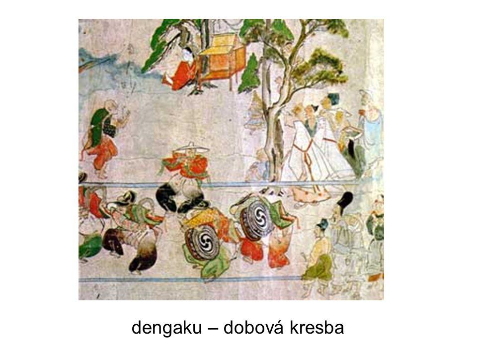 dengaku – dobová kresba