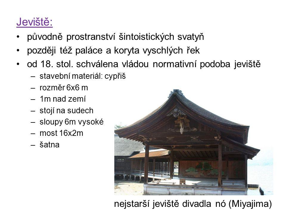 Jeviště: původně prostranství šintoistických svatyň