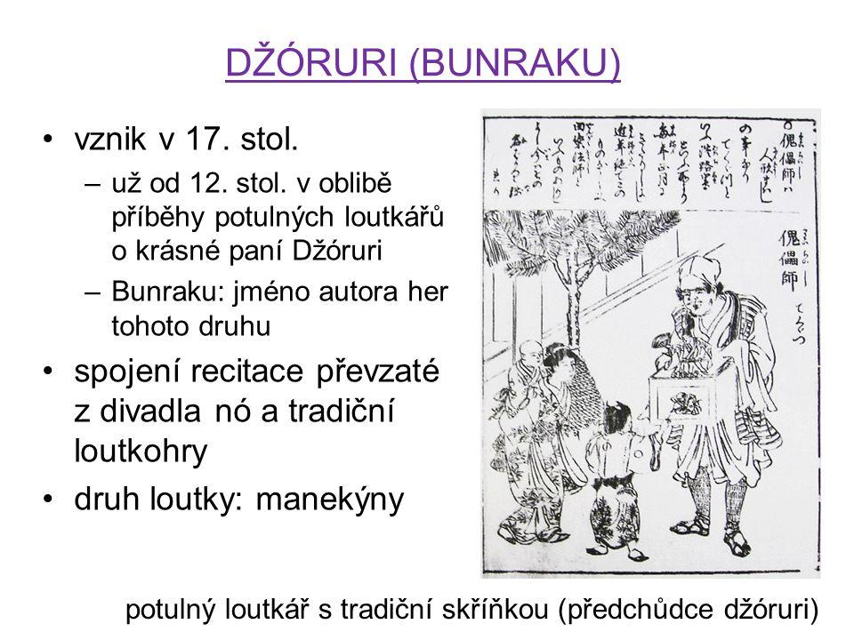 DŽÓRURI (BUNRAKU) vznik v 17. stol.